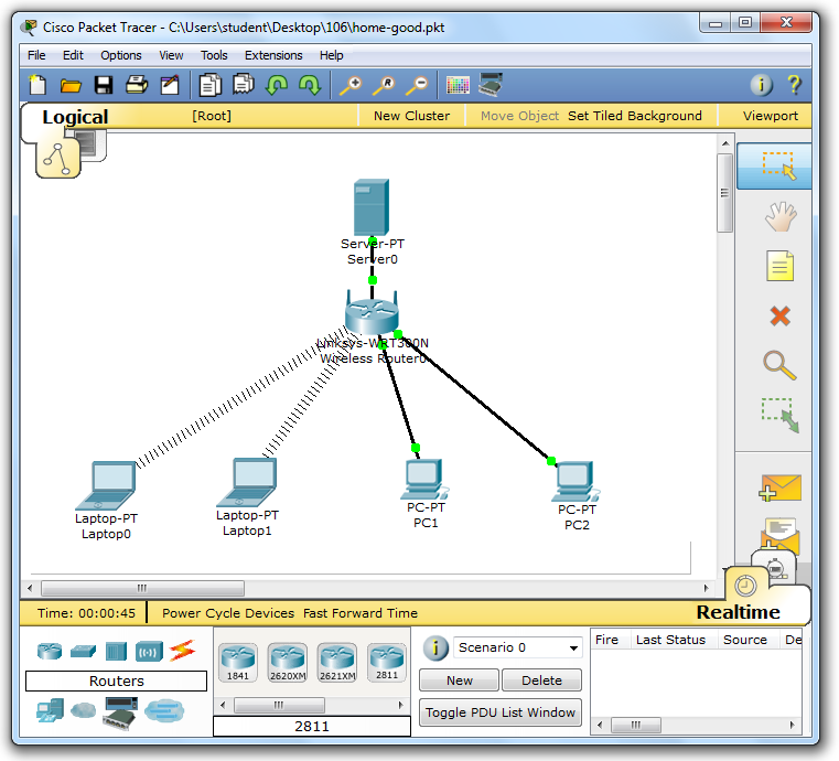 sample packet tracer projects