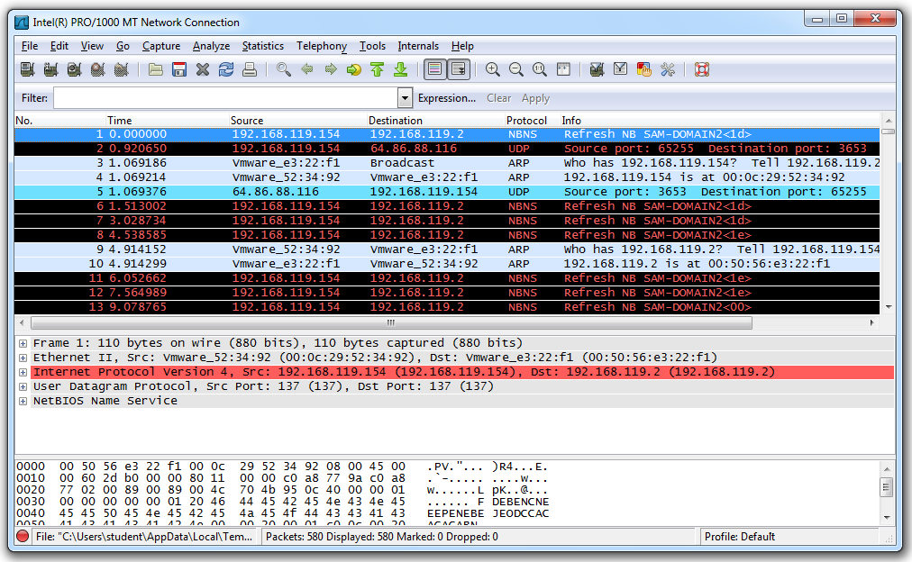 Project 1: Sniffing HTTP Traffic with Wireshark (10 pts )