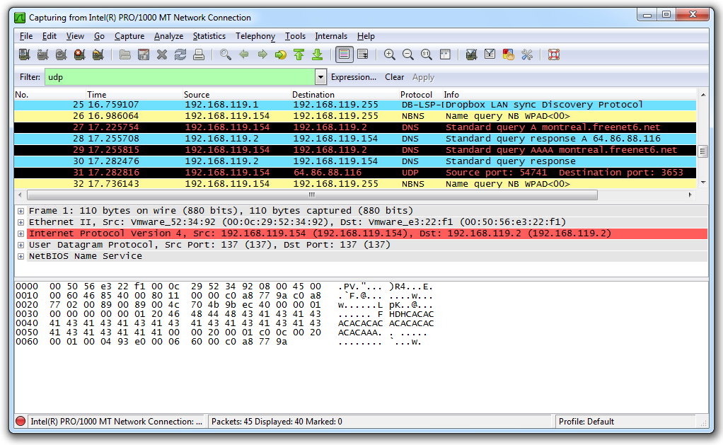 Project 2: Sniffing UDP and TCP Traffic with Wireshark (15 pts )