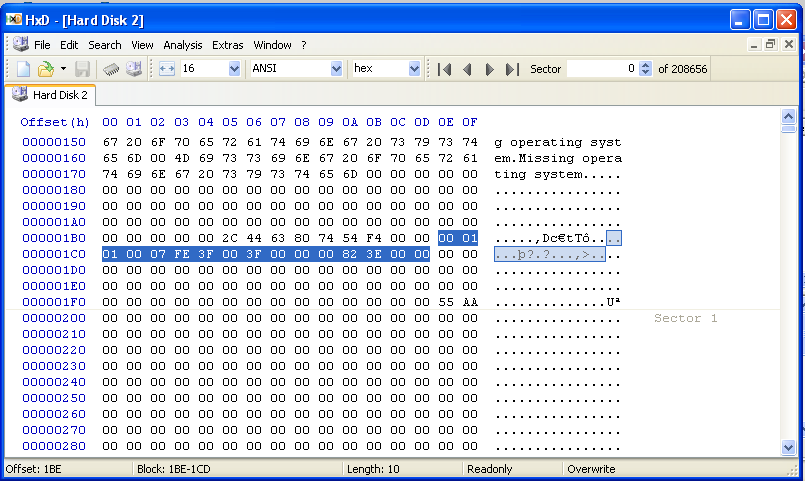 Project 2: Viewing Segments and Clusters with a Hex Editor (25 Points)