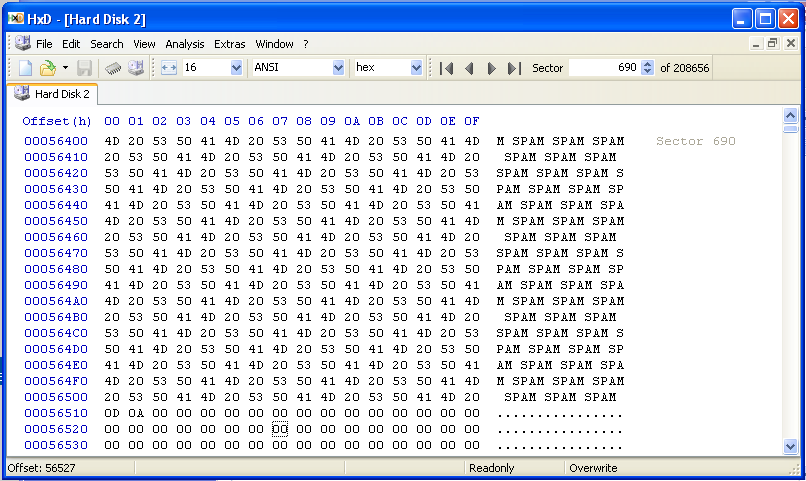 Project 2: Viewing Segments and Clusters with a Hex Editor