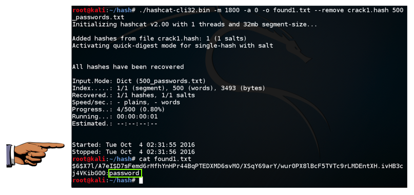 Project 12: Cracking Linux Password Hashes with Hashcat (15 pts )