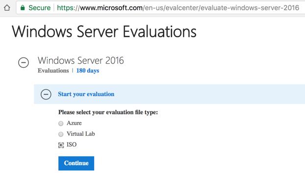 1a: Windows 2016 Server Virtual Machine (10 pts)