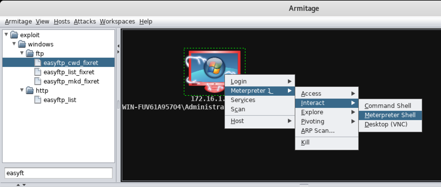 Project 3: Taking Control of a Server with Armitage (15 points)