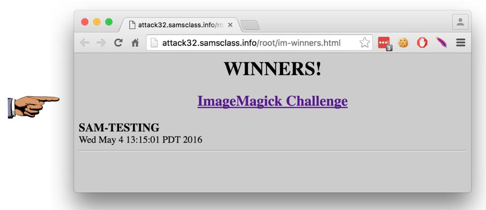 Proj X19: Exploiting ImageMagick (Up to 30 pts )
