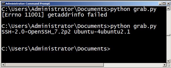 Basic Port Scanning with Python