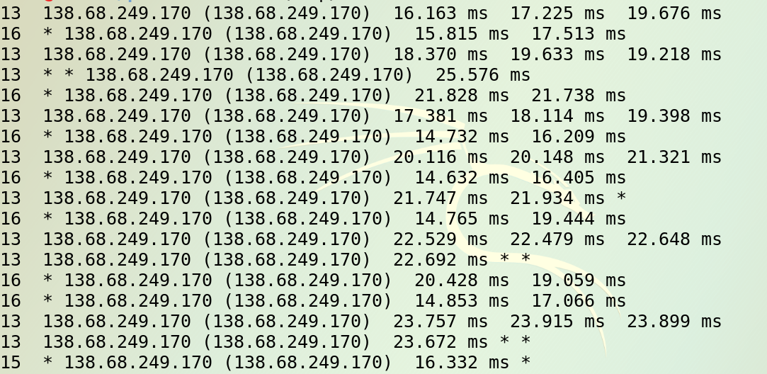 2017-07-09: Traceroute Variation