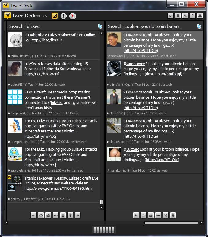 c044d21c0579b6 2011-06-14  This tweet links LulzSec to today s 500,000 Bitcoin heist