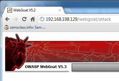webgoat machine
