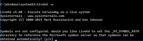 Proj 12: Kernel Debugging with Livekd on Windows 10 (20 pts )