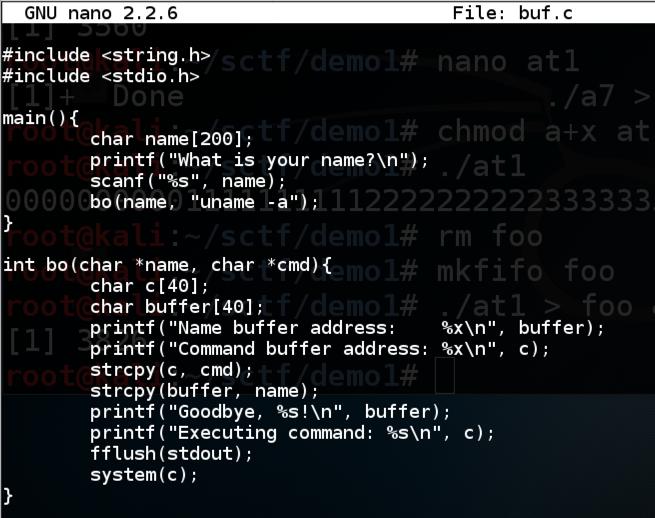 Proj 1: Linux Buffer Overflow: Command Injection (10 pts  +
