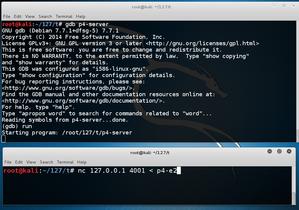 Proj 4: Remote Linux Buffer Overflow With Listening Shell (20 pts )