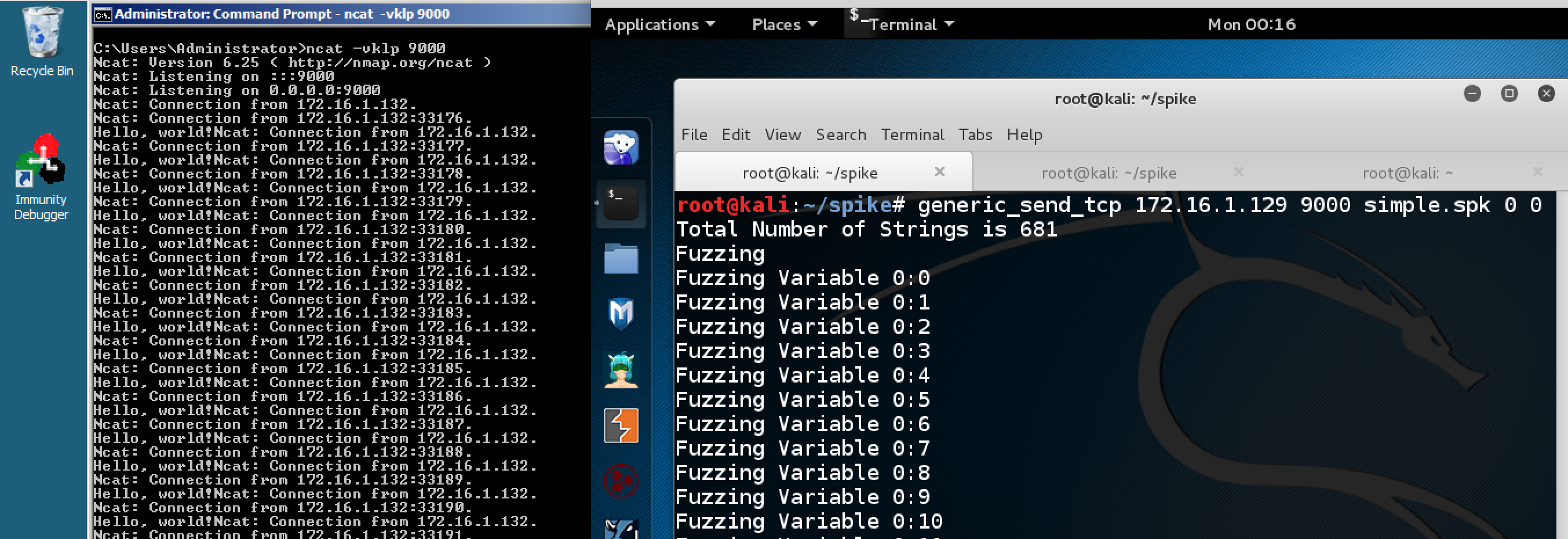 Windows command prompt nmap - Fuzzing The Ncat Listener With Varied Text
