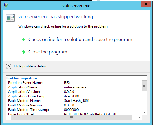 Windows Server 2012 Buffer Overflow Defenses and EMET