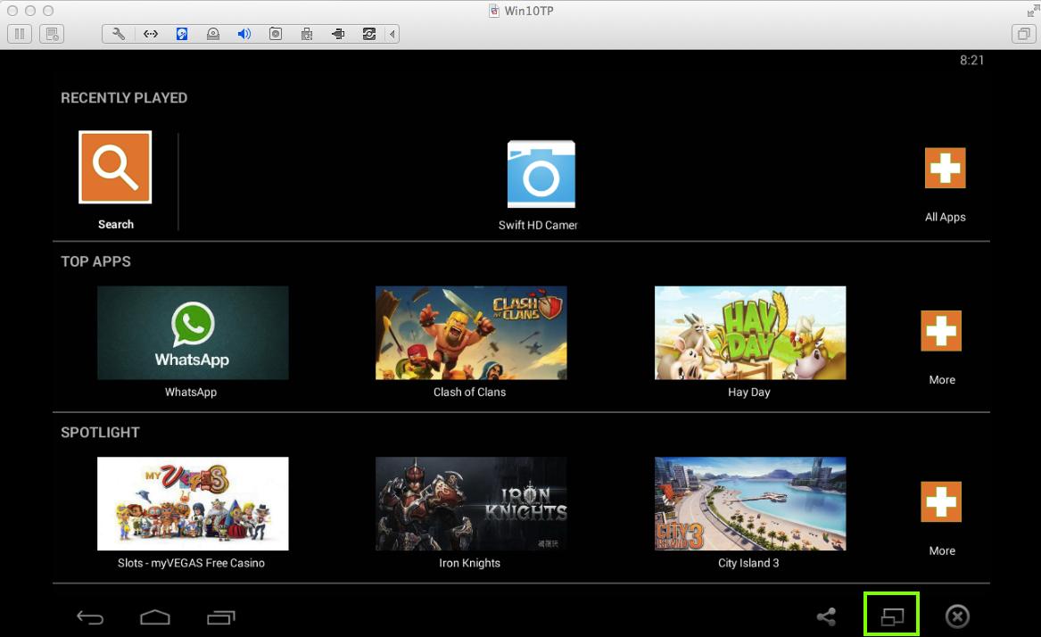 android emulator windows full screen