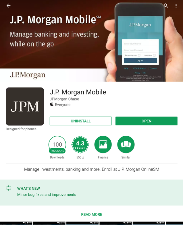 JP Morgan Chase Android Apps Password Exposure -- FIXED