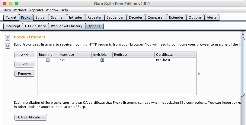 Making an SSL Auditing Proxy with a Mac and Burp