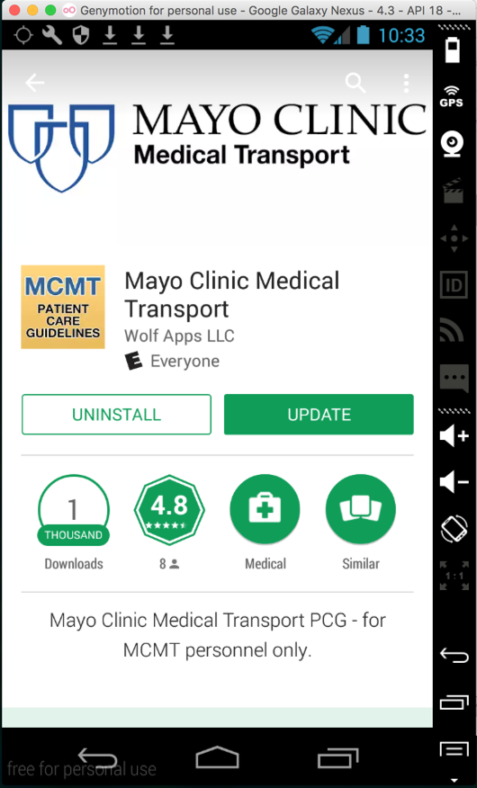 Project 4: Mayo Clinic Medical Transport App Hardcoded