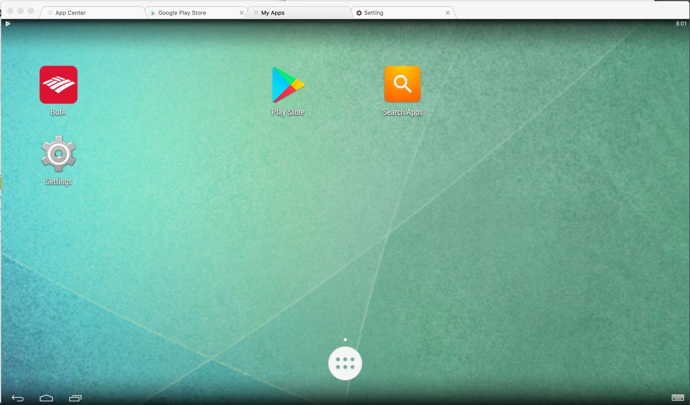 Proj 4x: BlueStacks Android Emulator (15 pts)