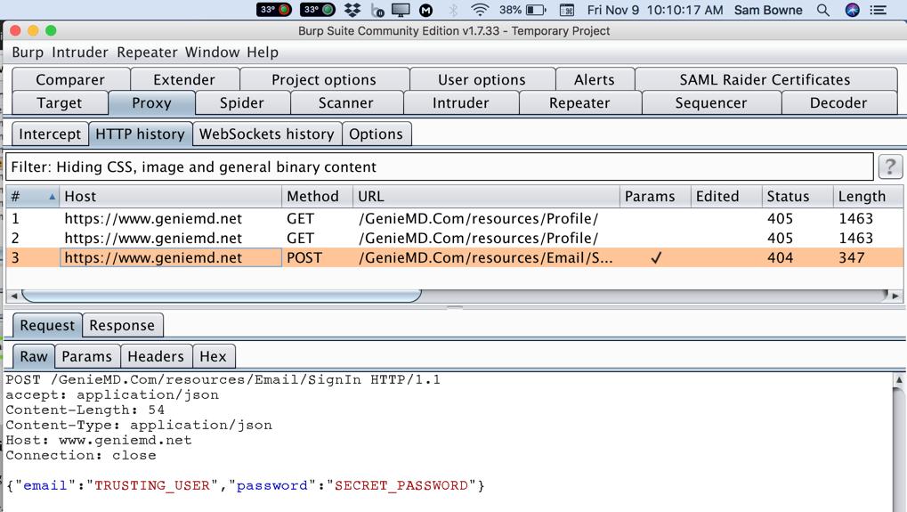 Project 5: GenieMD Broken SSL (10 pts )