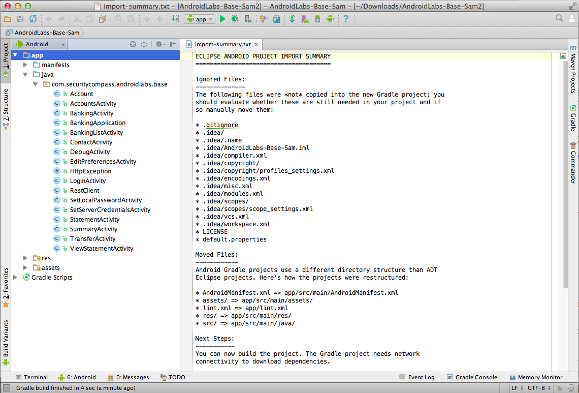 Project 10 obfuscating an android app with proguard 10 points start android studio baditri Choice Image