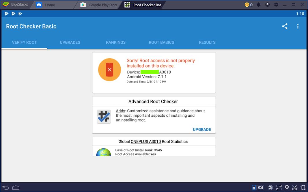 Proj 6x: Rooting BlueStacks on Windows (10 pts)
