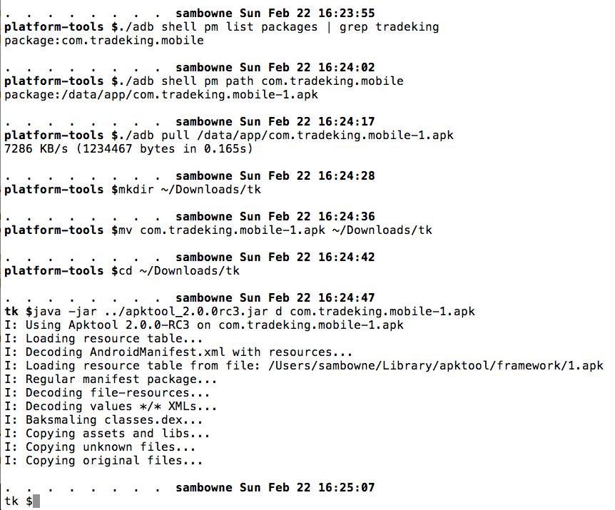 TradeKing Android App Vulnerability