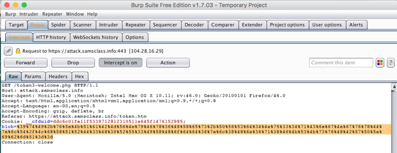 CNIT 129S Proj 10: Exploiting ECB-Encrypted Tokens with Burp (15 pts )
