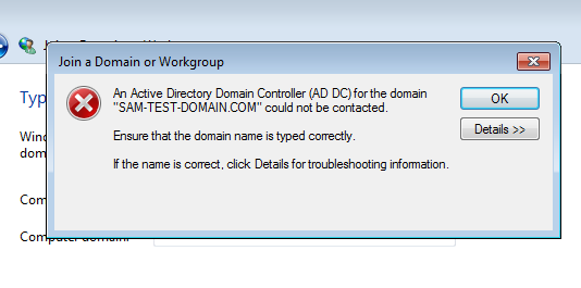 how to add domain in windows 7