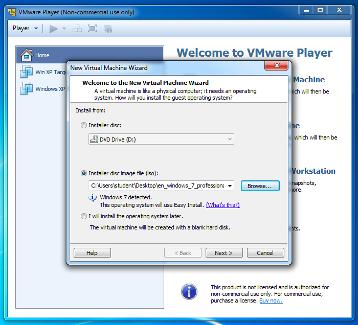 Project 5x: Installing Windows 7 Ultimate in VMware (15 points)