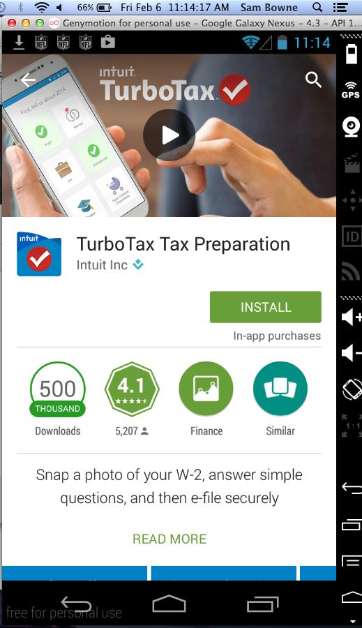Intuit TurboTax App Vulnerability