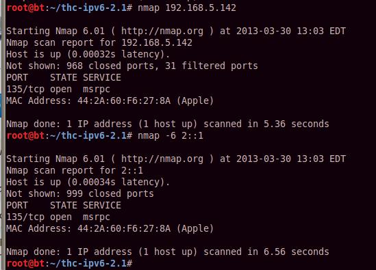 Netcat and IPv6