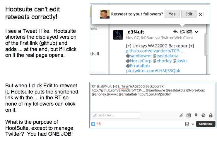 Apr 2014 2014 11 07 hootsuite cant edit retweets correctly fandeluxe Images