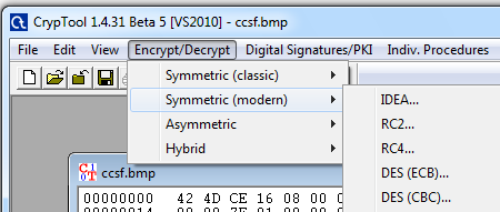 Proj 18 in CNIT 120: Encrypting an Image in ECB and CBC